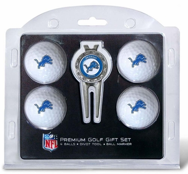Detroit Lions 4 Ball and Divot Tool Set