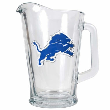Detroit Lions 60 oz Glass Pitcher