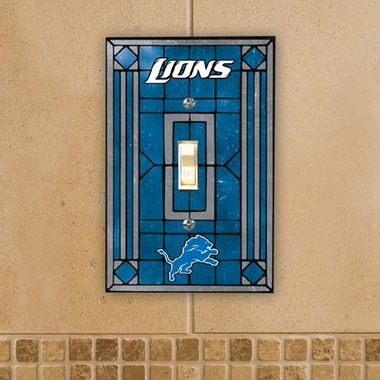 Detroit Lions Art Glass Lightswitch Cover