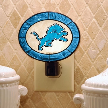 Detroit Lions Art Glass Night Light