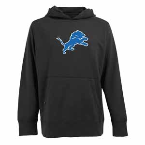 Detroit Lions Big Logo Mens Signature Hooded Sweatshirt (Color: Black) - XX-Large