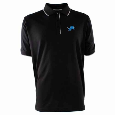 Detroit Lions Mens Elite Polo Shirt (Color: Black)