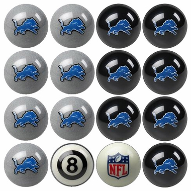 Detroit Lions Home and Away Complete Billiard Ball Set