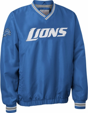 Detroit Lions NFL Pre-Season Wordmark Pullover Blue Jacket
