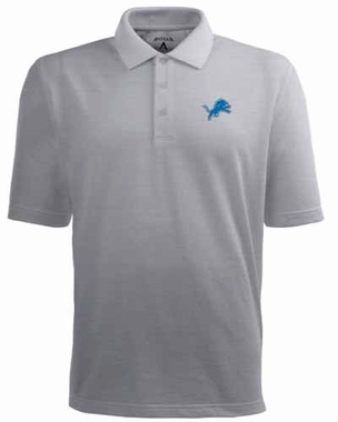 Detroit Lions Mens Pique Xtra Lite Polo Shirt (Color: Silver)
