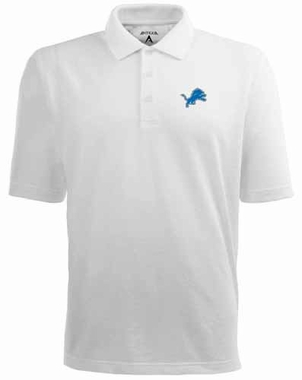 Detroit Lions Mens Pique Xtra Lite Polo Shirt (Color: White)
