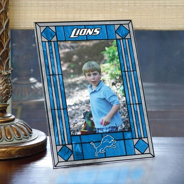 Detroit Lions Portrait Art Glass Picture Frame