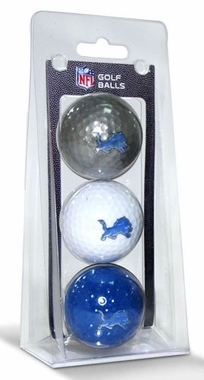 Detroit Lions Set of 3 Multicolor Golf Balls