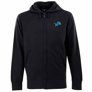 Detroit Lions Mens Signature Full Zip Hooded Sweatshirt (Color: Black) - XXX-Large