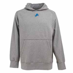 Detroit Lions Mens Signature Hooded Sweatshirt (Color: Gray) - Small