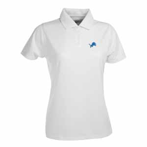 Detroit Lions Womens Exceed Polo (Color: White) - Large