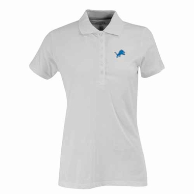 Detroit Lions Womens Spark Polo (Color: White)