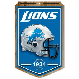 "Detroit Lions Wood Sign - 11""x17"" Established Design"