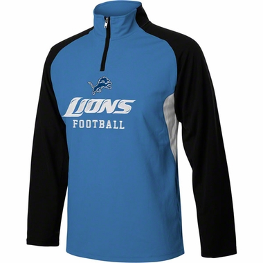 Detroit Lions YOUTH 1/4 Zip Lightweight Pullover Jacket