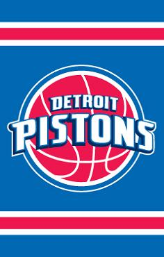Detroit Pistons Applique Banner Flag