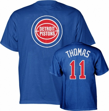 Detroit Pistons Isiah Thomas Player Name and Number T-Shirt