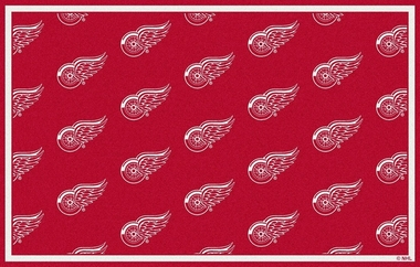 "Detroit Red Wings 7'8 x 10'9"" Premium Pattern Rug"
