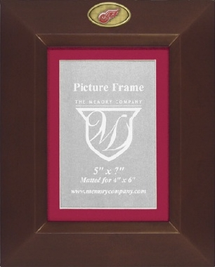 Detroit Red Wings BROWN Portrait Picture Frame
