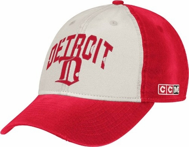 Detroit Red Wings CCM Throwback Adjustable Slouch Hat