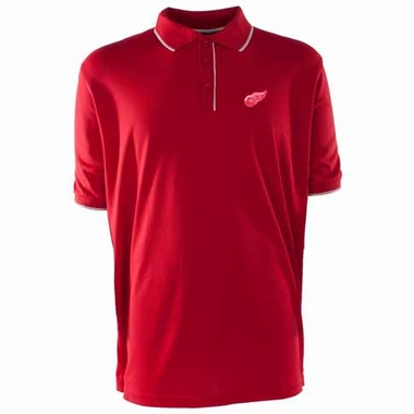 Detroit Red Wings Mens Elite Polo Shirt (Color: Red)