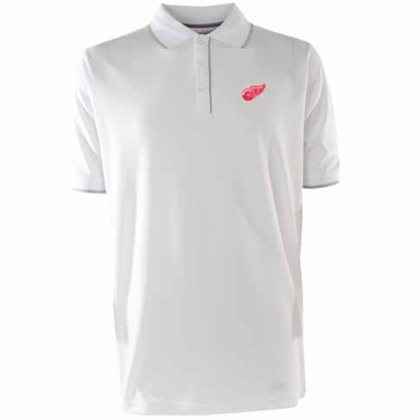 Detroit Red Wings Mens Elite Polo Shirt (Color: White)