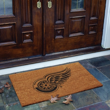 Detroit Red Wings Flocked Coir Doormat