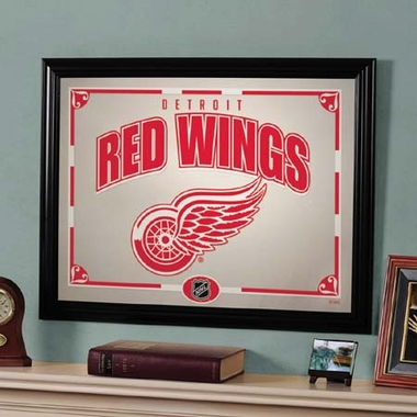 Detroit Red Wings Framed Mirror