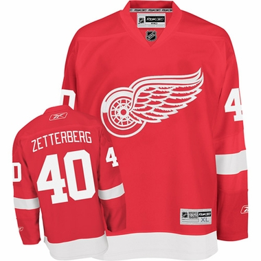 Detroit Red Wings Henrik Zetterberg Youth Team Color Replica Jersey