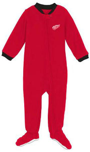 Detroit Red Wings Infant Footed Sleeper Pajamas - 24 Months