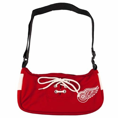 Detroit Red Wings Jersey Material Purse