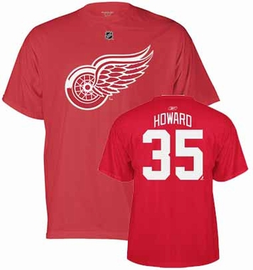 Detroit Red Wings Jimmy Howard Name and Number T-Shirt