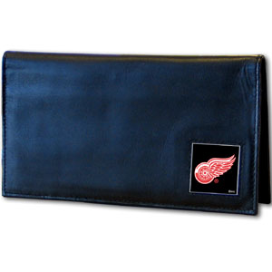 Detroit Red Wings Leather Checkbook Cover (F)