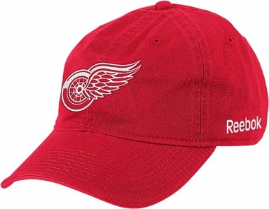 Detroit Red Wings Logo Red Team Slouch Adjustable Hat
