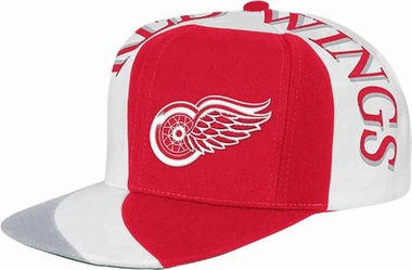 Detroit Red Wings Mitchell & Ness The Swirl Retro Vintage Snap Back Hat