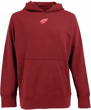 Detroit Red Wings Mens Signature Hooded Sweatshirt (Color: Red)