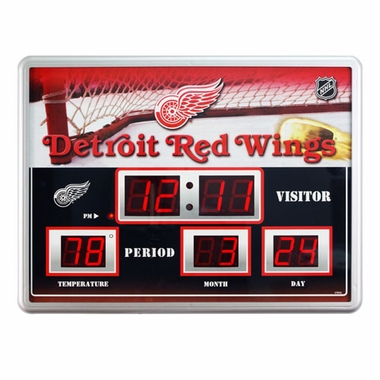 Detroit Red Wings Time / Date / Temp. Scoreboard