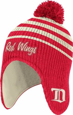 Detroit Red Wings Trooper Classic Retro Pom Hat