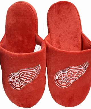 Detroit Red Wings Womens Jeweled Slippers