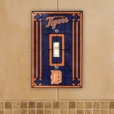 Detroit Tigers Art Glass Lightswitch Cover