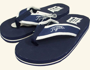 Detroit Tigers Contoured Flip Flop Sandals - Medium