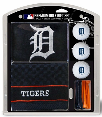 Detroit Tigers Embroidered Towel Golf Gift Set