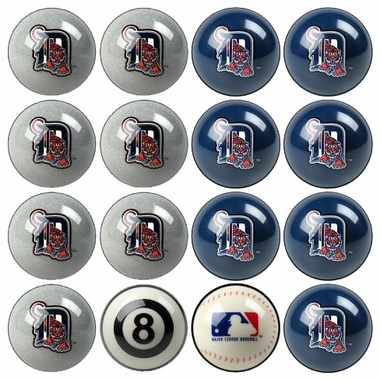 Detroit Tigers Home and Away Complete Billiard Ball Set