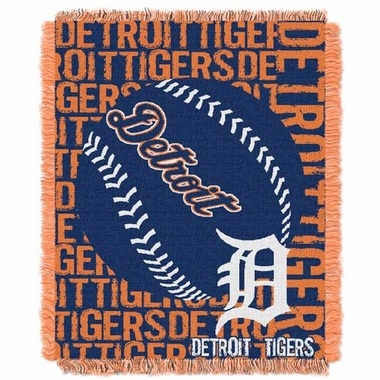 Detroit Tigers Jacquard Woven Throw Blanket