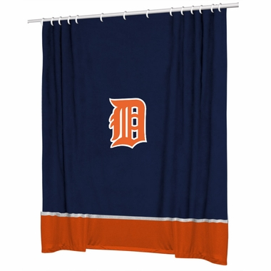 Detroit Tigers Jersey Material Shower Curtain