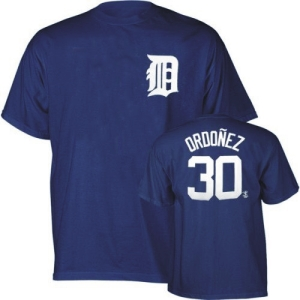 Detroit Tigers Magglio Ordonez YOUTH Name and Number T-Shirt - Large