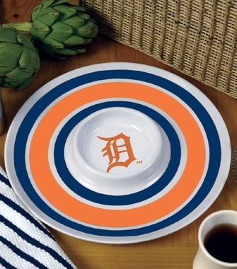 Detroit Tigers Plastic Chip and Dip Plate