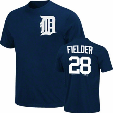 Detroit Tigers Prince Fielder Name and Number T-Shirt