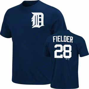 Detroit Tigers Prince Fielder Name and Number T-Shirt - Small