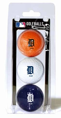 Detroit Tigers Set of 3 Multicolor Golf Balls
