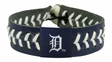 Detroit Tigers Baseball Bracelet - Team Color Style